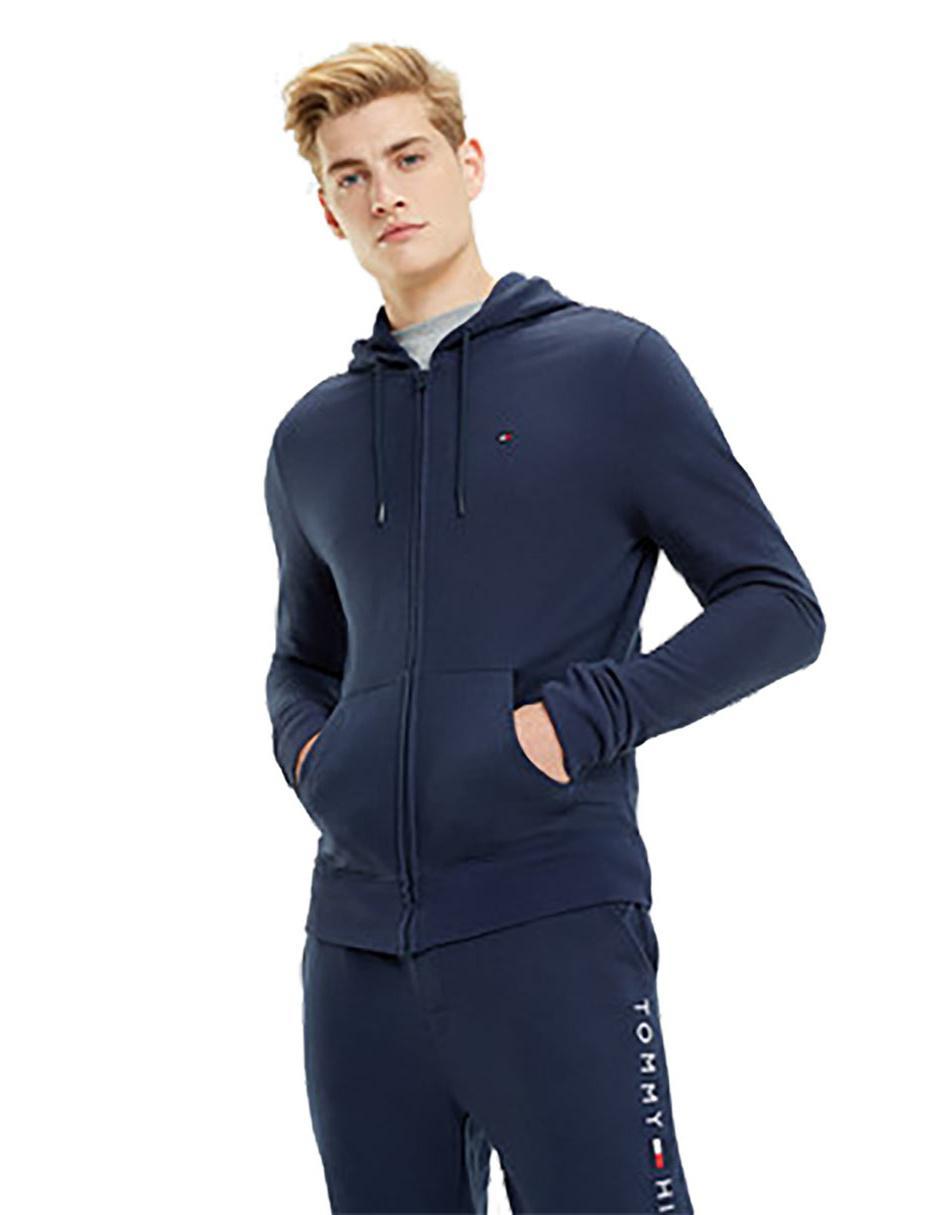 revisa promoción nuevas variedades Sudadera pijama Tommy Hilfiger azul marino logotipo