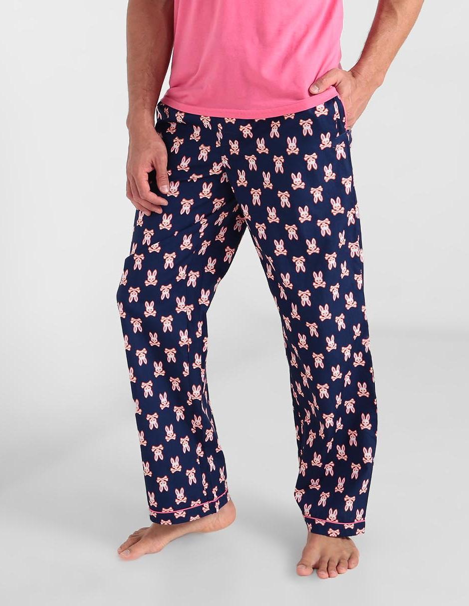Pantalon Pijama Psycho Bunny Azul Marino Con Diseno Grafico En Liverpool